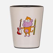 Cute Monkey guitar Shot Glass