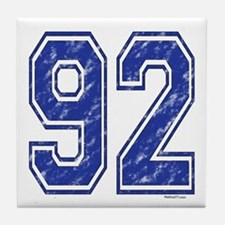 92 Jersey Year Tile Coaster