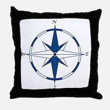Unique Nautical sailing compass rose Throw Pillow