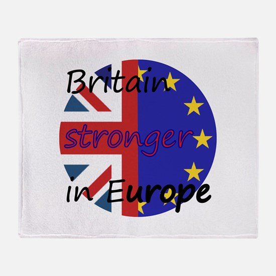 Stronger In Europe Throw Blanket