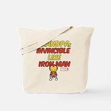 Invincible Iron Man Grandpa Tote Bag