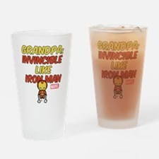 Invincible Iron Man Grandpa Drinking Glass