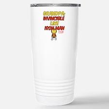 Invincible Iron Man Gra Travel Mug