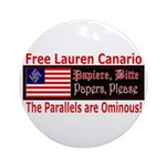 Free Lauren-1 Ornament (Round)