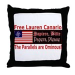 Free Lauren-1 Throw Pillow