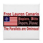 Free Lauren-1 Tile Coaster