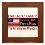 Free Lauren-1 Framed Tile
