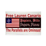Free Lauren-1 Rectangle Magnet (100 pack)