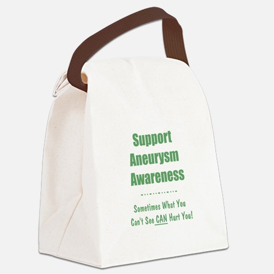 Support Aneurysm Awareness Canvas Lunch Bag