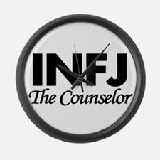 INFJ | The Counselor Large Wall Clock
