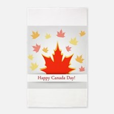 Cool Canada day Area Rug