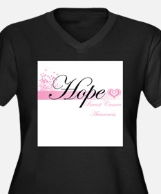 Cool Breast cancer awareness month Women's Plus Size V-Neck Dark T-Shirt