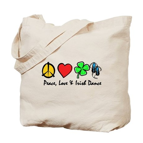 Peace Love Irish Dance Tote Bag