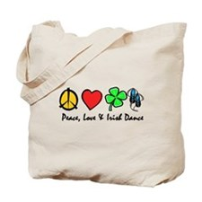 Peace Love Irish Dance Tote Bag