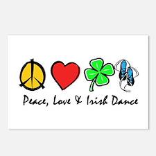 Peace Love Irish Dance Postcards (Package of 8)