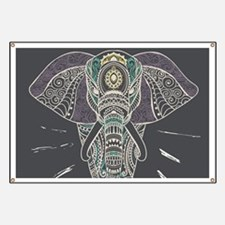 Indian Elephant Banner