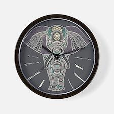 Indian Elephant Wall Clock