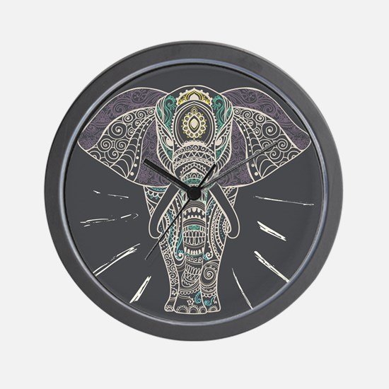 Indian Elephant Wall Clock