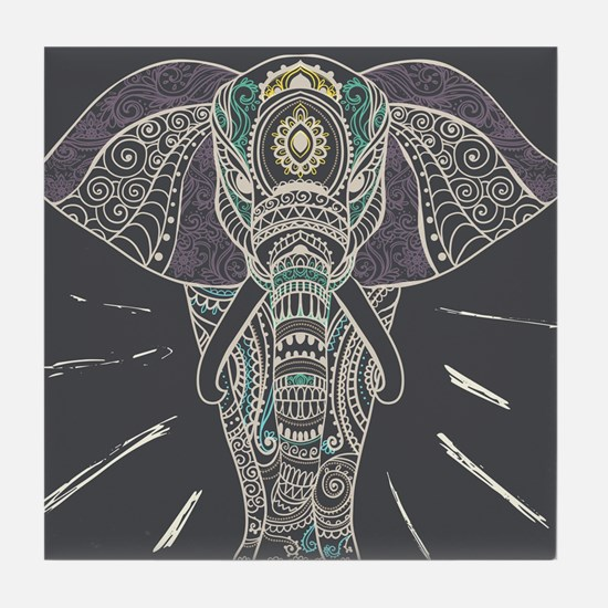 Indian Elephant Tile Coaster
