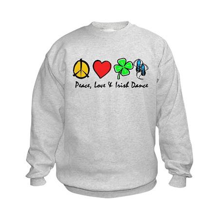 Peace Love Irish Dance Kids Sweatshirt