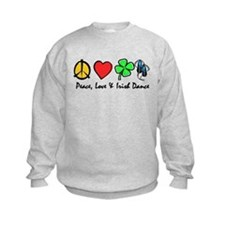 Peace Love Irish Dance Sweatshirt