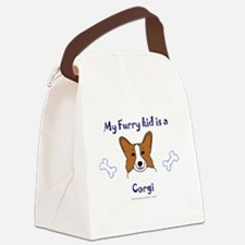 Funny Dog big sister Canvas Lunch Bag