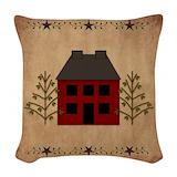 Primitive country Woven Pillows