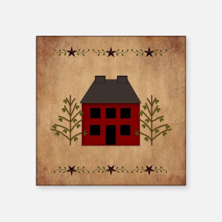 Primitive House Sticker