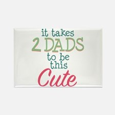 2 Dads to be This Cute Rectangle Magnet
