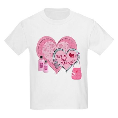 It's a Girl Thing (Pink) Kids Light T-Shirt