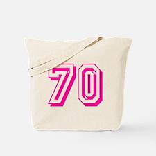 70 Pink Birthday Tote Bag
