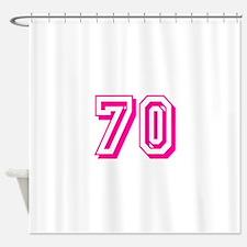 70 Pink Birthday Shower Curtain