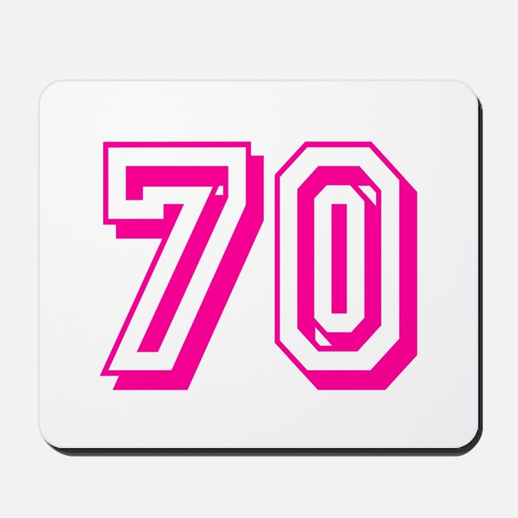 70 Pink Birthday Mousepad