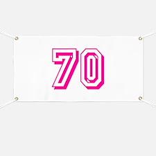 70 Pink Birthday Banner