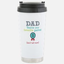 Dad You're My Favorite Stainless Steel Travel Mug
