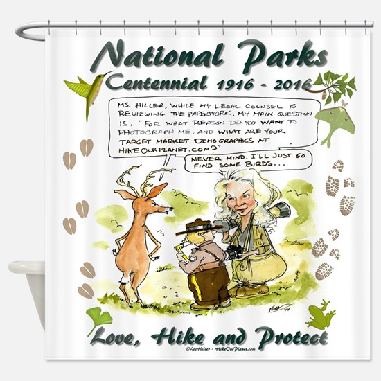 National Parks Centennial Shower Curtain