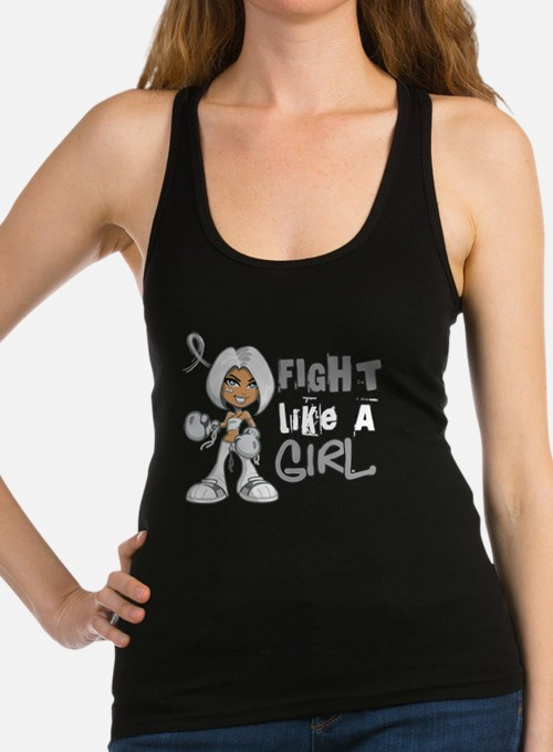 Cute Breast cancer fight like a girl stylish Racerback Tank Top