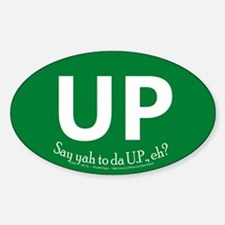 Up Green Oval Decal