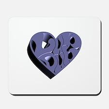 Blue Lub Dub 3D Mousepad