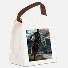 Funny Warrior Canvas Lunch Bag