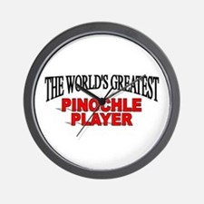 """The World's Greatest Pinochle Player"" Wall Clock"
