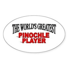 """The World's Greatest Pinochle Player"" Decal"