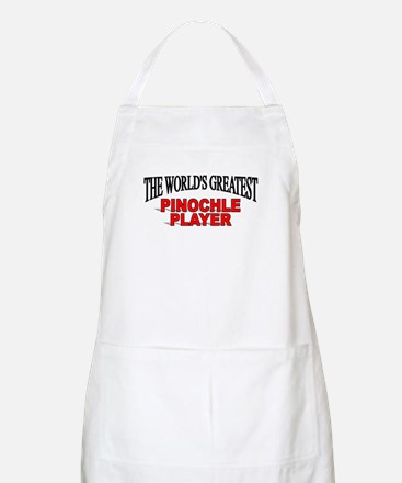 """""""The World's Greatest Pinochle Player"""" BBQ Apron"""