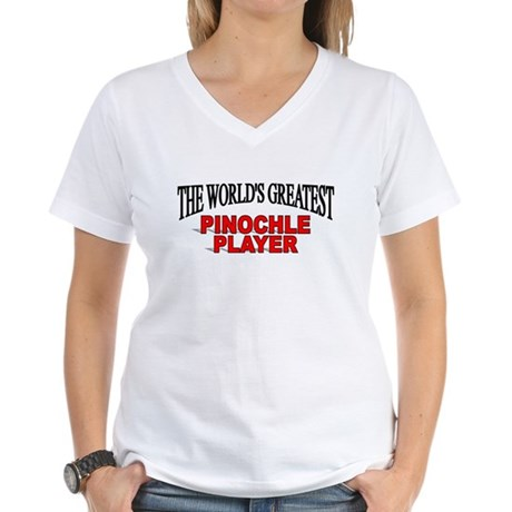 """""""The World's Greatest Pinochle Player"""" Women's V-N"""