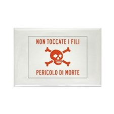 Don't Touch the Wire, Italy Rectangle Magnet (10 p