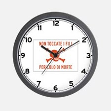 Don't Touch the Wire, Italy Wall Clock