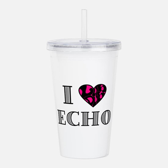 I LubDub Echo Hot Pink Acrylic Double-wall Tumbler
