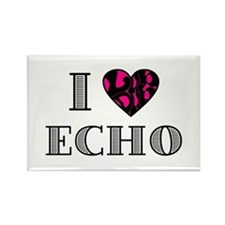 I LubDub Echo Hot Pink Rectangle Magnet