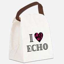 I LubDub Echo Hot Pink Canvas Lunch Bag