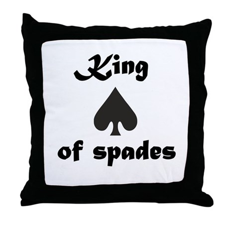 King of spades Throw Pillow